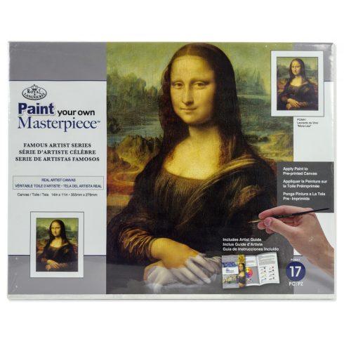 Kifestő készlet vászonra, akrilfestékkel, ecsettel, felnőtteknek - 23x31 cm - Mona Lisa